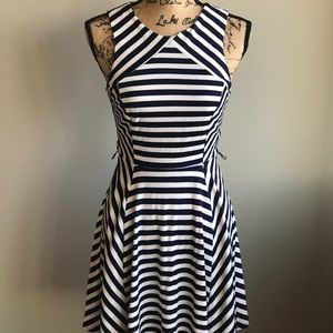 Arden B Dresses - Arden B Stripe pointe dress
